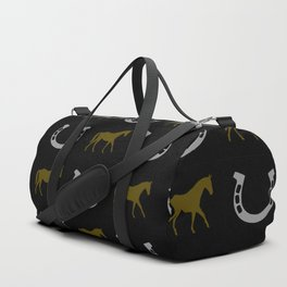 horse shoe and horse pattern Duffle Bag