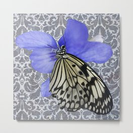 Butterfly on violet Metal Print