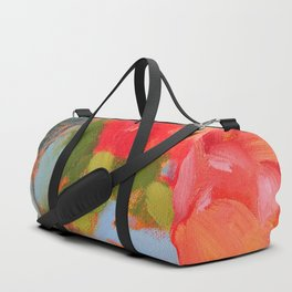 Vermillion Blooms Duffle Bag