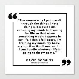 30     David Goggins Quotes   190901 Canvas Print