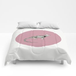 Black and White Lizard Comforters