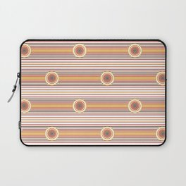 Concentric Circles and Stripes in Fall Colors Laptop Sleeve