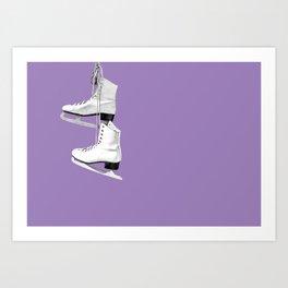 Ice Queen - purple Art Print