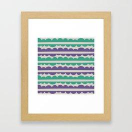 Mordidas Retro Grapes Framed Art Print