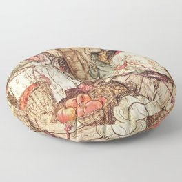 Badger, Mole and Ratty from Wind in the Willows Floor Pillow