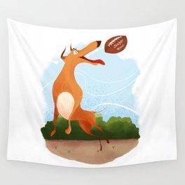 Footballer dog Wall Tapestry