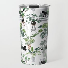 cats in the interior pattern Travel Mug