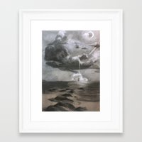 moby dick Framed Art Prints featuring Moby Dick by Melisa Keyes