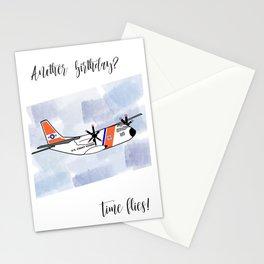 Birthday: Time Flies (Coast Guard) Stationery Cards