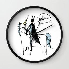 Big Man on a Unicorn Wall Clock