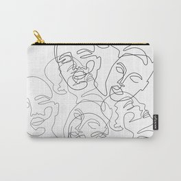 Lined Face Sketches Carry-All Pouch