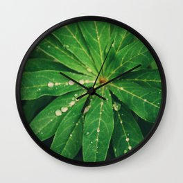 Diamond Leaf Wall Clock