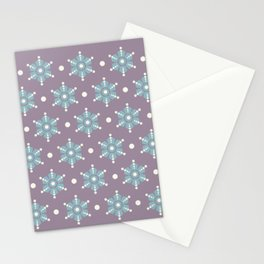 The retro snowflake III Stationery Cards