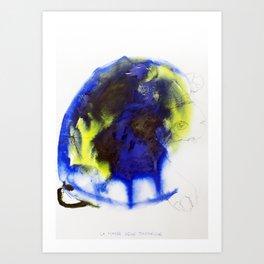 "Fantastic animals ""Blue Turtle"" Art Print"