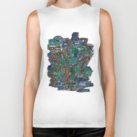 concrete Biker Tanks featuring Concrete Jungle  by AdrianWest