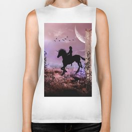 The unicorn with fairy Biker Tank
