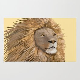 African Lion Rug