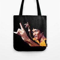 lee pace Tote Bags featuring lee by gazonula