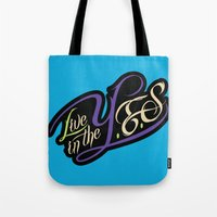 inception Tote Bags featuring YES InCEPTIOn by LiveInTheYES