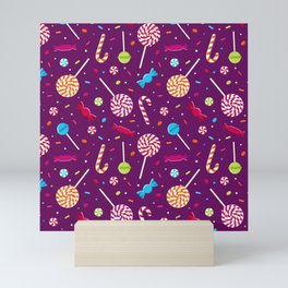 Delightful Candy Pattern Mini Art Print