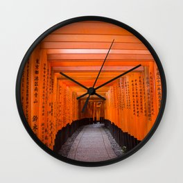 Japan Travel Photo - Fushimi Inari Shrine Wall Clock