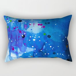 Fireflies - Abstract painting Rectangular Pillow
