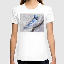 Blue Jay Watercolor Bird T-shirt