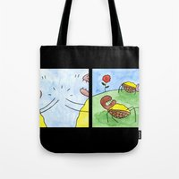 turtles Tote Bags featuring Turtles by Bakal Evgeny