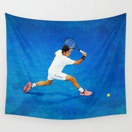 Roger Federer Sliced Backhand Wall Tapestry