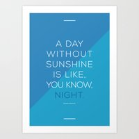A Day Without Sunshine. Art Print