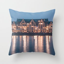 Architecture at night Throw Pillow