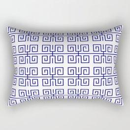 Antic pattern 22- roman or greek pattern - blue Rectangular Pillow