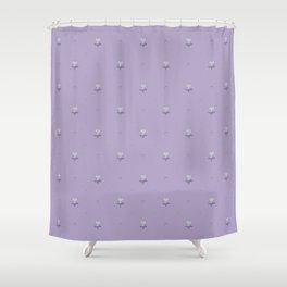 Ladybug and Little Flower in Violet Shower Curtain