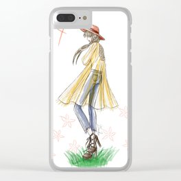 Festival Boho Girl Clear iPhone Case