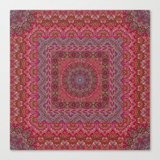 Farah Squared Red Canvas Print