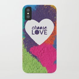 Choose Love Heart Quote Print iPhone Case