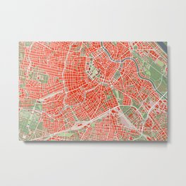 Vienna city map classic Metal Print