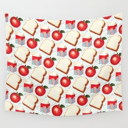 Lunch Pattern - Ruled Wall Tapestry