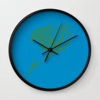 fairy tail Wall Clocks featuring Fairy Tail Segmented Logo Happy by JoshBeck