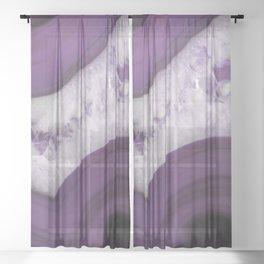 Purple Agate Slice Sheer Curtain