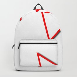 Cursor Arrow Mouse Red Line Backpack