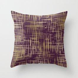 Crosshatch Plum Throw Pillow