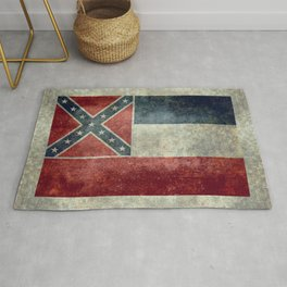 Mississippi State Flag - Distressed version Rug