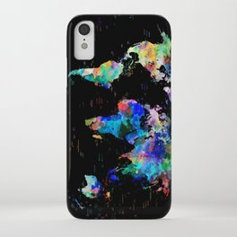world map political watercolor iPhone Case