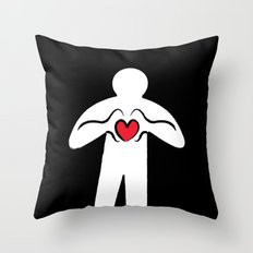 From Haring with Love Throw Pillow