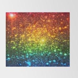 RainBoW Sparkle Stars Throw Blanket