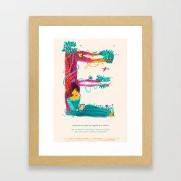 E for Elizabeth Bennet, Pride and Prejudice Framed Art Print