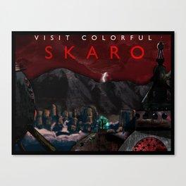 Visit Colorful Skaro Canvas Print