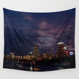 Boston at night Wall Tapestry