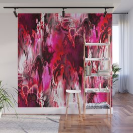 Marshmellow Skies (red) Wall Mural